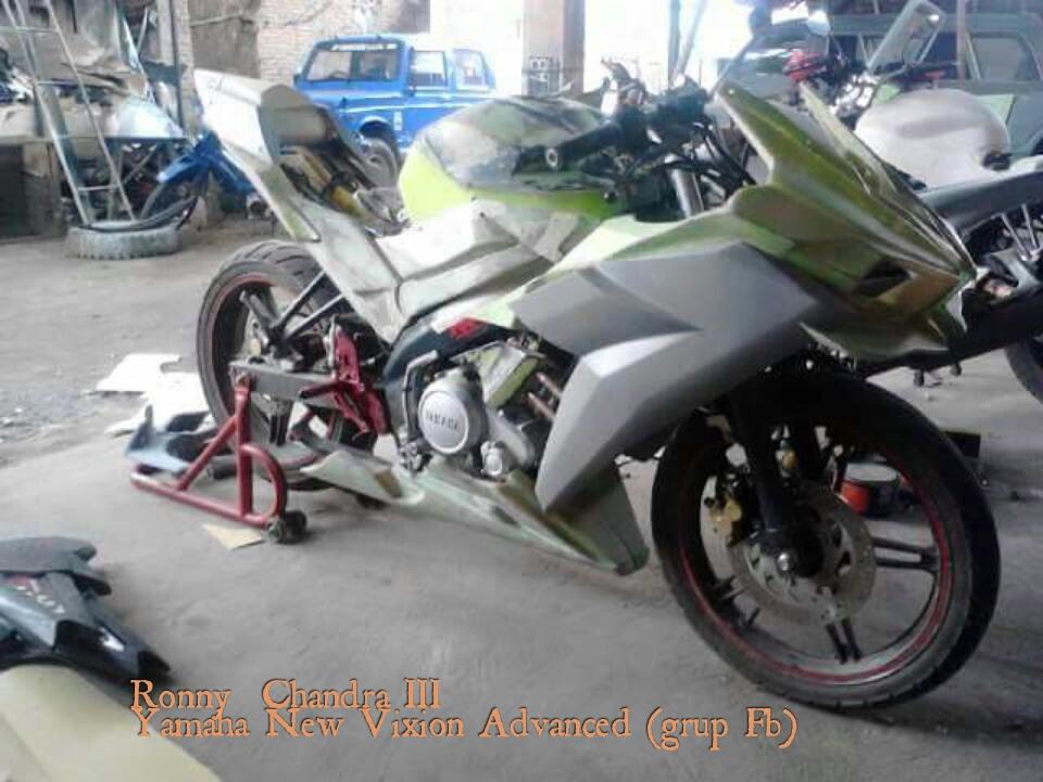 Yamaha Vixion Modif Ninja H2 Dan Ninja 250 Modifikasi
